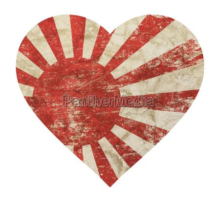 heart shaped grunge vintage japan nippon