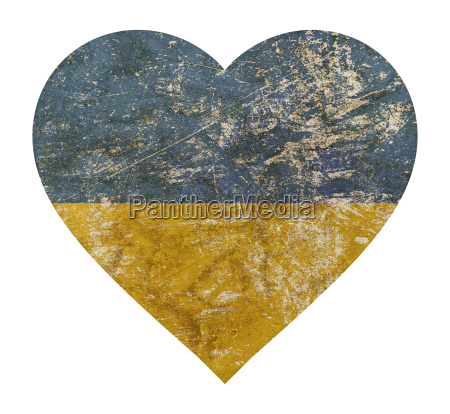 heart shaped grunge vintage faded flag