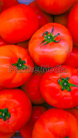 tomatoes in supermarket