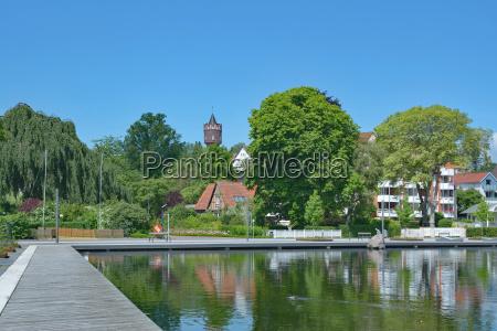 seapromenade of eutin in holstein switzerland
