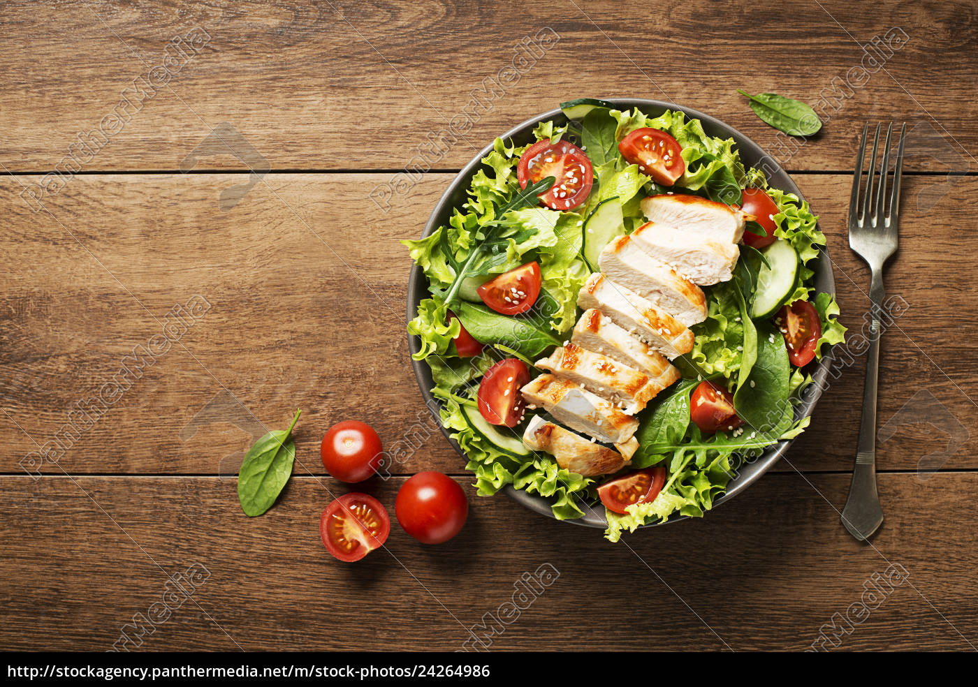 salad, with, chicken - 24264986