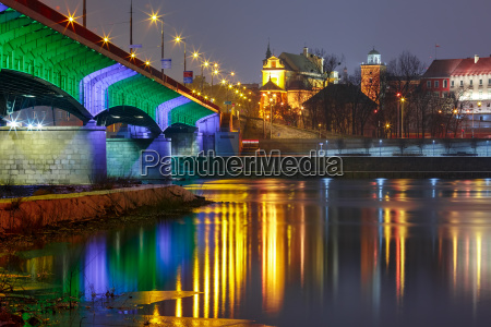 old town and river vistula at