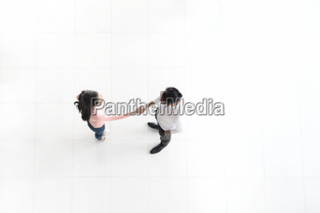 top view of asian business people