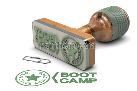 boot camp concept objective achieved certificate