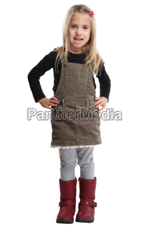 child little girl full body portrait