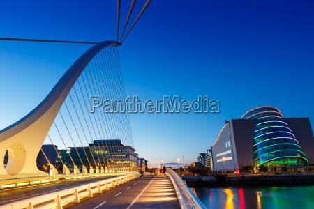 dublin ireland samuel beckett bridge bridge