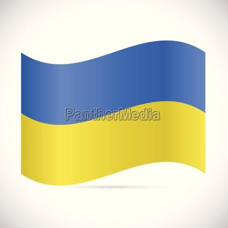 ukraine flag illustration
