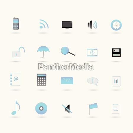 web icons blue