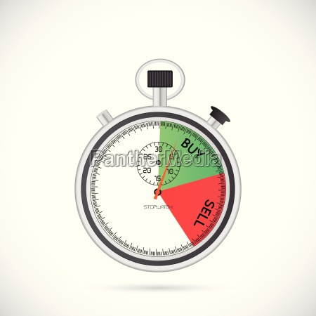 buy sell stopwatch illustration