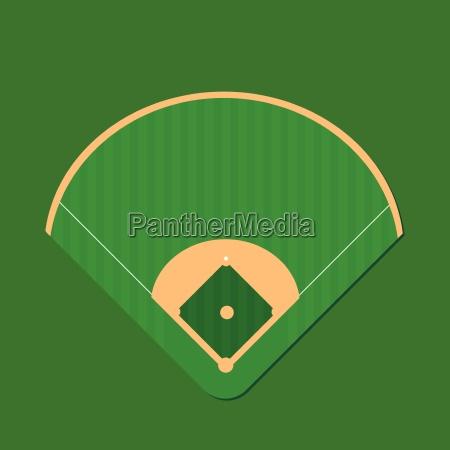 baseball field illustration