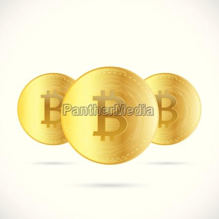 bitcoins illustration