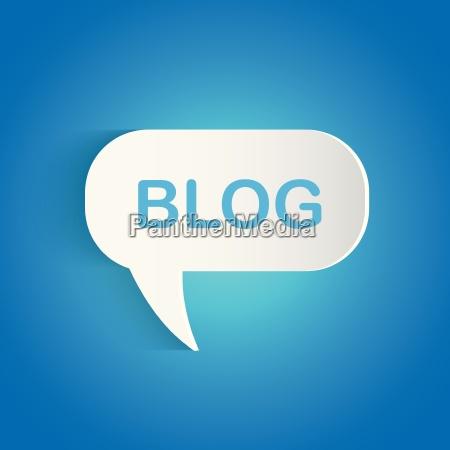 blog chat bubble