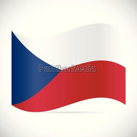 czech republic flag illustration