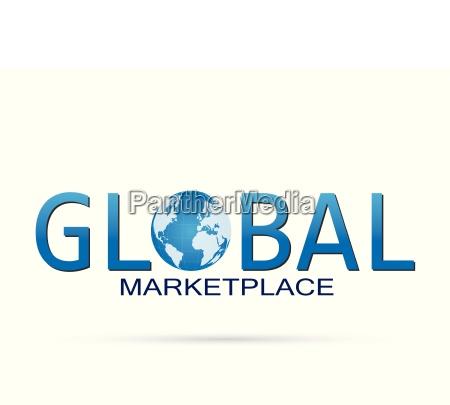 global marketplace illustration