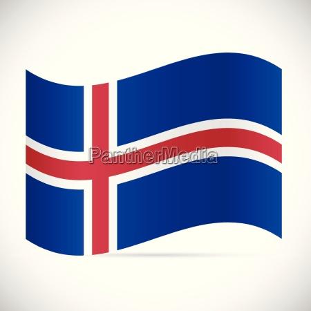 iceland flag illustration