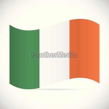 ireland flag illustration