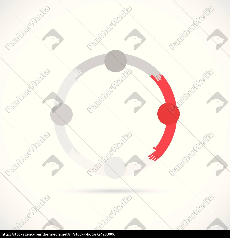 abstract, teamwork, illustration - 24283006