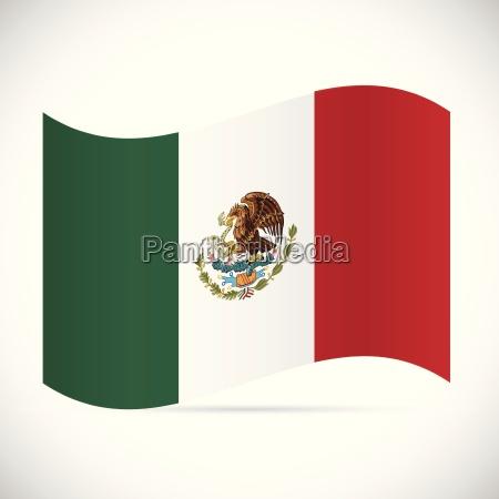 mexico, flag, illustration - 24283184
