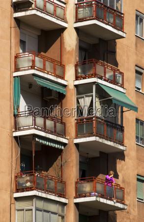 spain balcony facade balconies storefronts housing