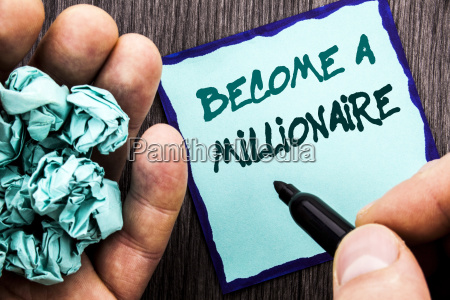 announcement text showing become a millionaire