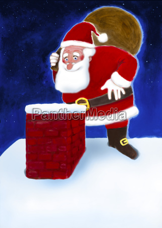 humour father christmas witty illustration gift