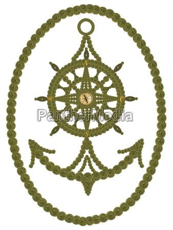 compass anchor steering wheel
