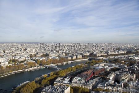 city town metropolis horizon paris france