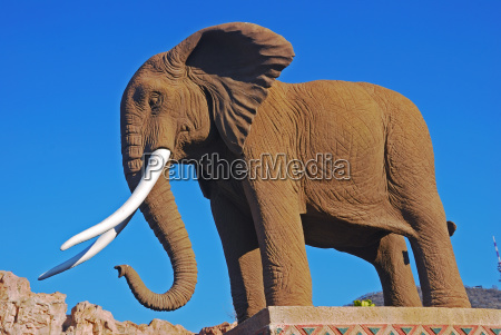 stone animal statue tourism africa elephant