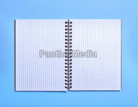 open blank notebook in a box