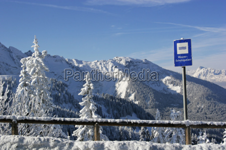 snowy landscape in the bavarian country