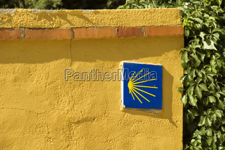sign signal blue spain wall yellower