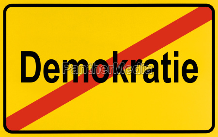symbolic picture end of democracy