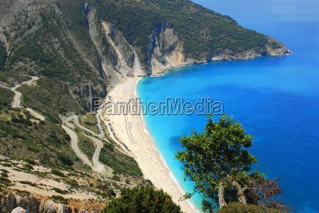 mirtos beach beach bay with sandy