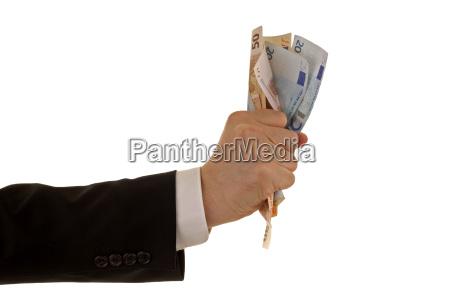 bank lending institution pay hand finger