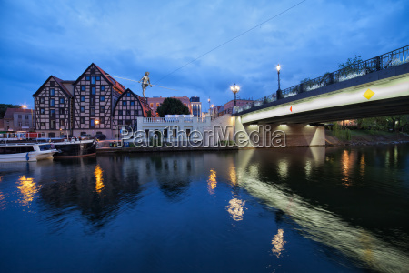 evening in the city of bydgoszcz
