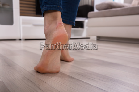 close up of an foot on
