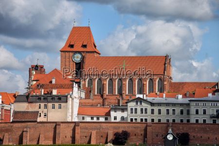 medieval old town of torun city