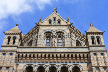 natural history museum with ornate terracotta