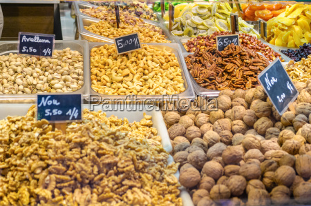 various type of nuts in the