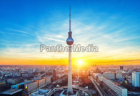 aerial view on alexanderplatz in berlin