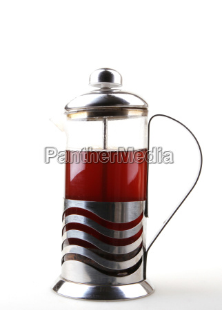 french press isolated on white background