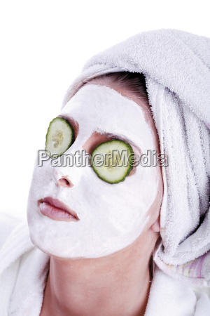 woman women portrait eyes masks cucumber