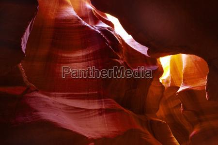 rock formations inside antelope canyon navajo