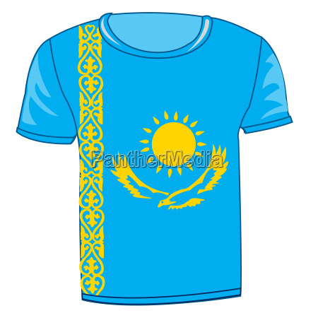 t shirt flag kazakhstan