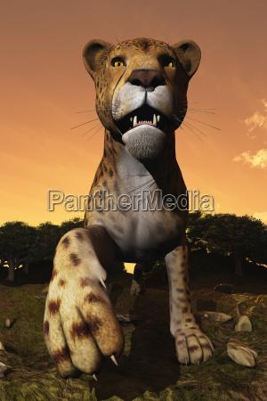 computer illustration of a cheetah