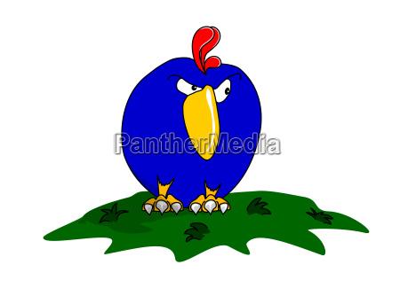 blue isolated optional comic humour animal
