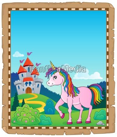happy unicorn topic parchment 1