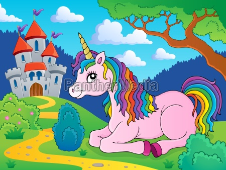 lying unicorn theme image 3