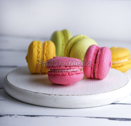 multicolored cakes of almond flour with
