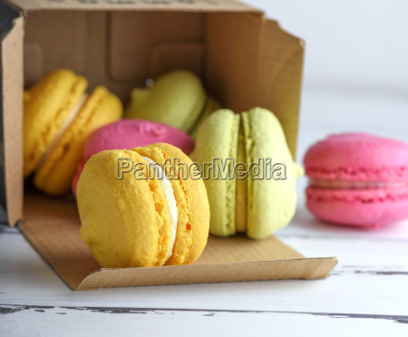 multicolored cakes of almond flour